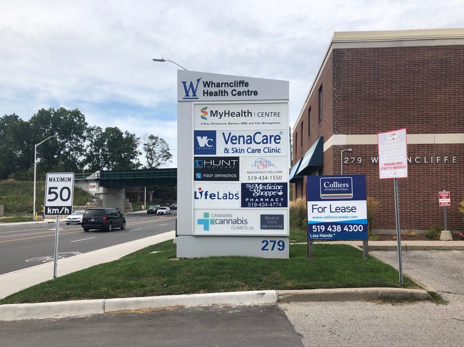 Wharncliffe Health Centre Pylon Sign